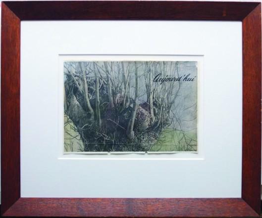 Branchage belge, 2013, Pencil, Indian Ink, gouache, print on paper, 20 x 21,4 cm