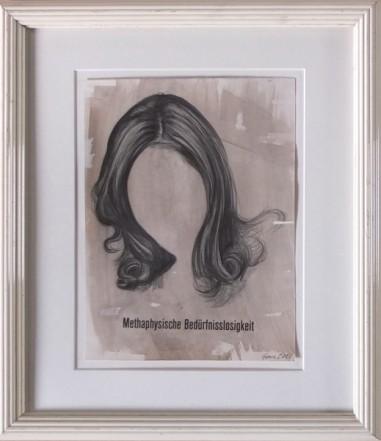 Mit Titel, 2014, Pencil, Indian ink, print on paper, 27 x 20,3 cm