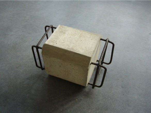 Untitled, 2007, Ferroconcrete, 26 x 26 x 30 cm
