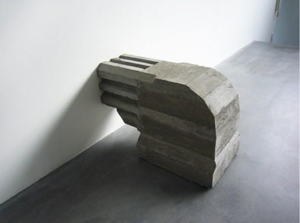 Untitled, 2007, Ferroconcrete, pigment 70 x 42 x 90 cm