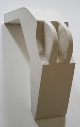Untitled, 2015, Plaster, 37 x 10,5 x 17,5 cm