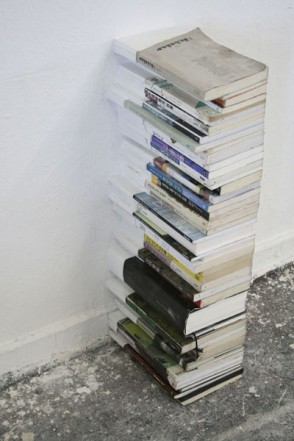 Die Bücher,  2010, Mixed media 81 x 21 x 33,6 cm