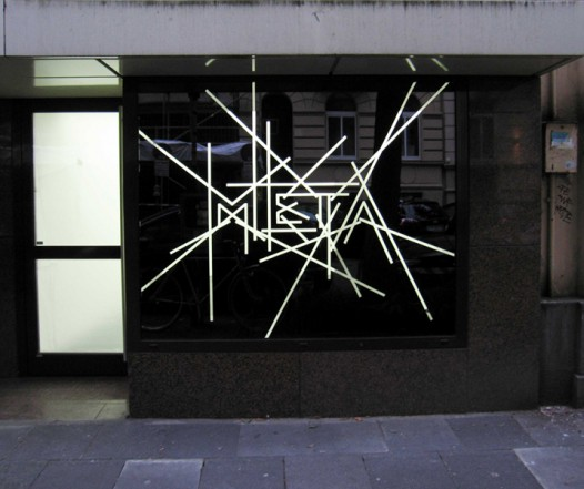 Meta, 2011, acrylic on glass, 152 x 186,5 cm