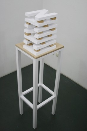 Noumena, 2011, MDF, wood, lacquer, 153 x 36 x 42 cm