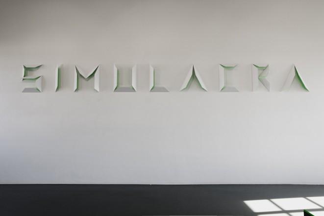 Simulacra, 2011, wood, lacquer, 74 x 760 x 20 cm