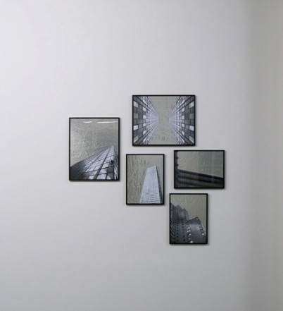Stealth Work 3 - 7, 2009-2010, collages, foto copies, aluminium foil, 40 x 50 cm / 42 x 29,7 cm
