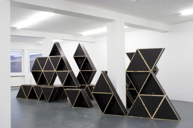 Structure, 2014, wood, screws, 244 x 604 x 225 cm (dimensions variable)
