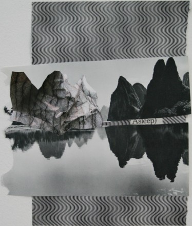 Asleep, 2008, Collage, 30 x 40 cm