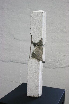 Stick, 2012  , Ferroconcrete, wall paint, 71 x 12 x 14,5 cm