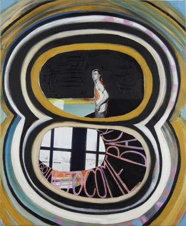 Abstecher, 2011, Öl Collage auf Leinwand, 60 x 50 cm