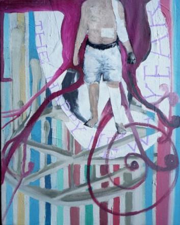 O.T., 2011, Öl Collage auf Leinwand, 50 x 40 cm