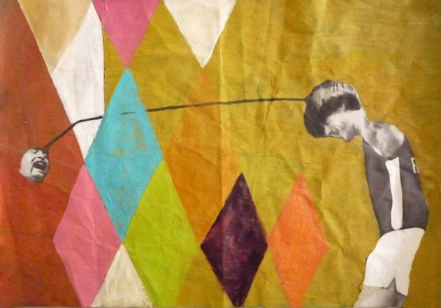 So, 2010, Oel auf Plakat, 50 x 80 cm