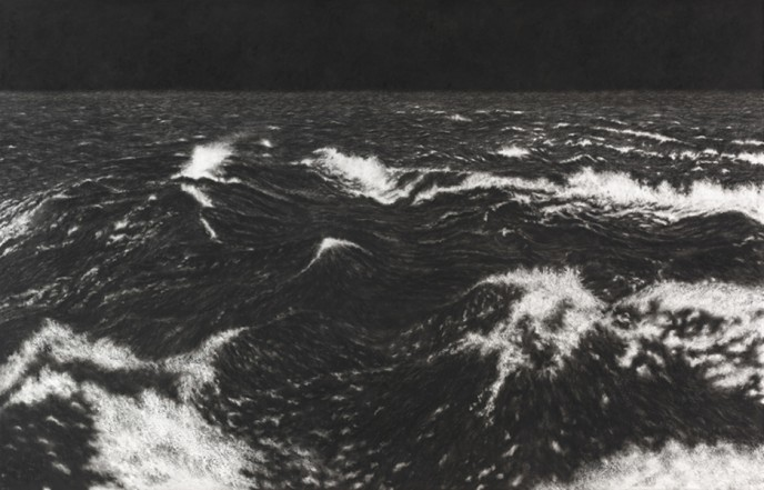 Black Sea VII, 2013, charcoal, pastel on museumboard, 152 x 236 cm