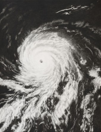 Hurricane, 2012, charcoal, pastel on museumboard, 197 x 152 cm