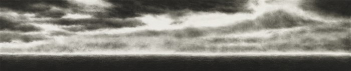 Black Sea, 2010, charcoal, pastel on museumboard, 54 x 264 cm