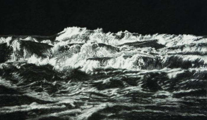 Black Sea II, 2011, charcoal, pastel on museumboard, 153 x 263 cm