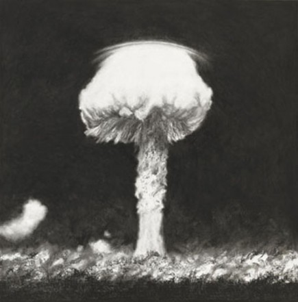 Central Pacific 31 V 1957, 2008, charcoal, pastel on museumboard, 152 x 150 cm