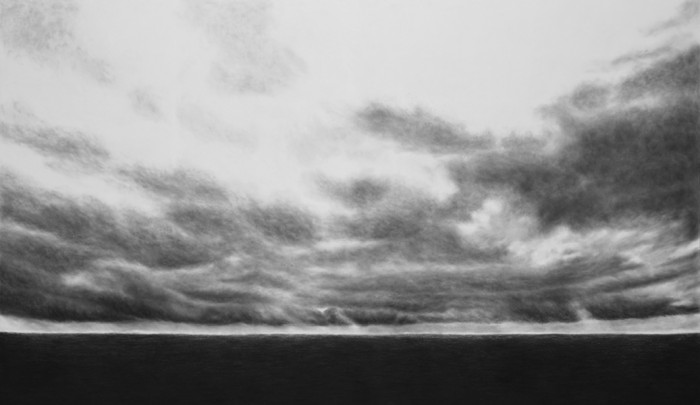 Iceland, 2011, charcoal, pastel on museumboard, 153 x 263 cm