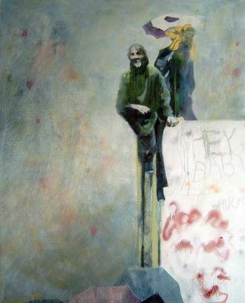 A Raining Day, 2007/2008, Oil, lacquer spray on canvas, 200 x 160 cm