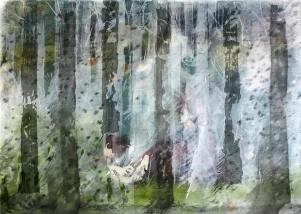 Draußen, 2012, Öl auf Leinwand, 150 x 210 cm