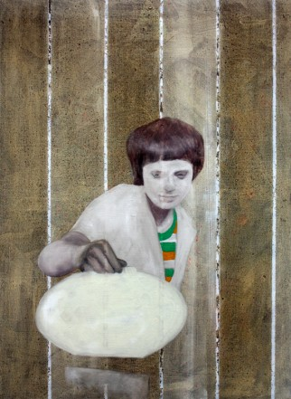 O.T., 2014, Öl auf Leinwand, 95 x 70 cm