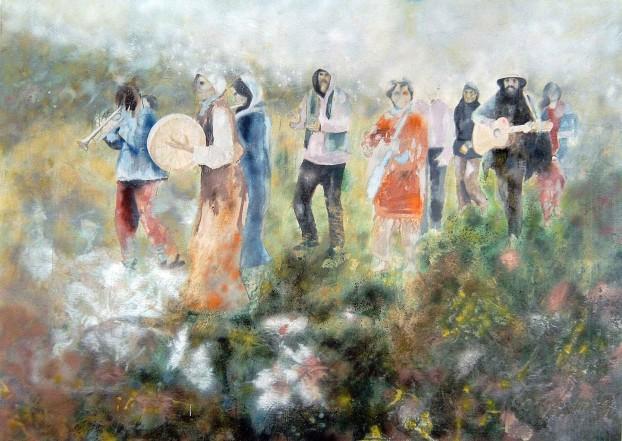 Seltsamer Ort II, 2007, Öl auf Leinwand, 200 x 270 cm