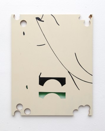 He Is Abstract and Bored, 2014, lacquer, MDF,52 x 42 cm