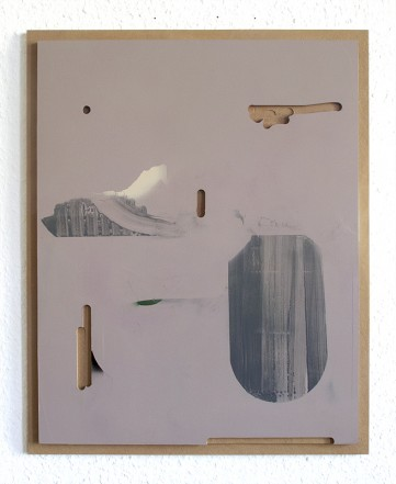 Set and Setting, 2014, lacquer, vinyl, MDF, 50 x 40 cm
