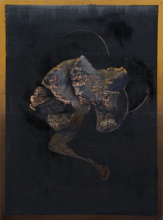 Neige, 2008, Oil on wood, 40 x 29,5 cm