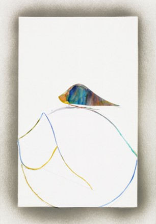 Plumage, 2010, Water colour on paper, 29,7 x 21 cm