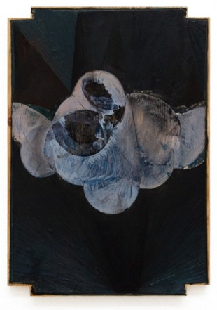 Strix, 2008, Oil on wood, 42 x 30 cm