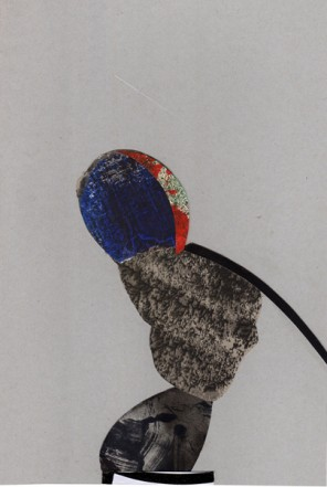 Untitled, 2009, Collage, mixed media, 26 x 17,5 cm