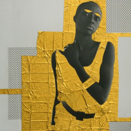 M'bintou 2, 2013, Collage on paper, 20 x 20 cm