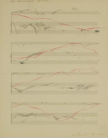 Die verbindende Stimme, 1987, Pencil, coloured pencil on paper, 34 x 27 cm