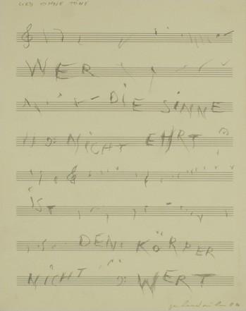 Lied ohne Töne, 1986, Pencil on paper, 34 x 27 cm