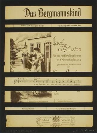 Musikalisches Stimmungsbild, 2004, Collage on cardboard, 34 x 27 cm