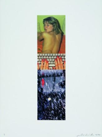?, 1998, Collage auf Karton, 40 x 30 cm