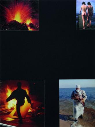 Die vier Elemente, 1995, Collage auf Karton, 40 x 30 cm