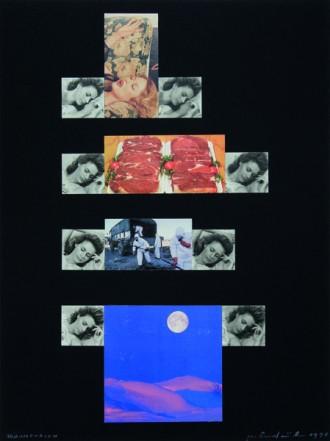 Traumphasen, 1998, Collage auf Karton, 40 x 30 cm