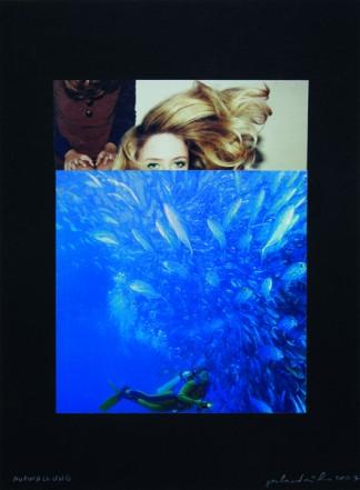 Aufwallung, 2007, Collage auf Karton, 40 x 30 cm