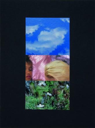 Gemeinsamkeit, 1995, Collage auf Karton, 40 x 30 cm