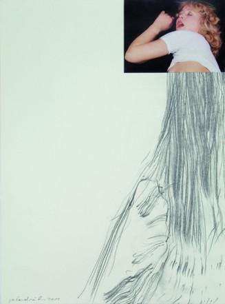 Ohne Titel, 2011, Collage auf Karton, 40 x 30 cm