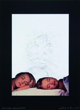 Träumende Freundinnen, 2006, Collage auf Karton, 40 x 30 cm