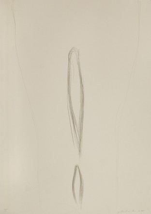!, 1975, Pencil on cardboard, 62,5 x 44 cm