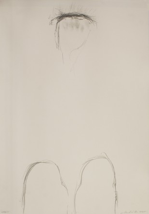 Gebet, 1985, Pencil on cardboard, 73 x 51 cm