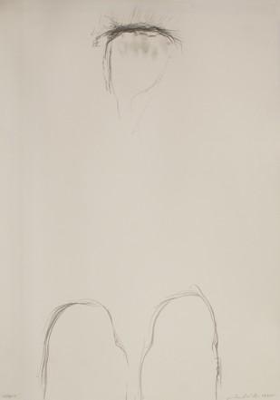 Gebet, 1985, Pencil on cardboard, 73 x 51 cm