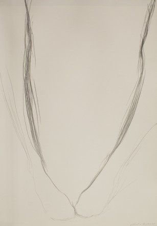 Untitled, 1975, Pencil on cardboard, 73 x 51 cm