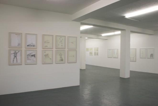 Exhibition view ZEICHNUNGEN / FOTOMONTAGEN / VISUELLE MUSIK